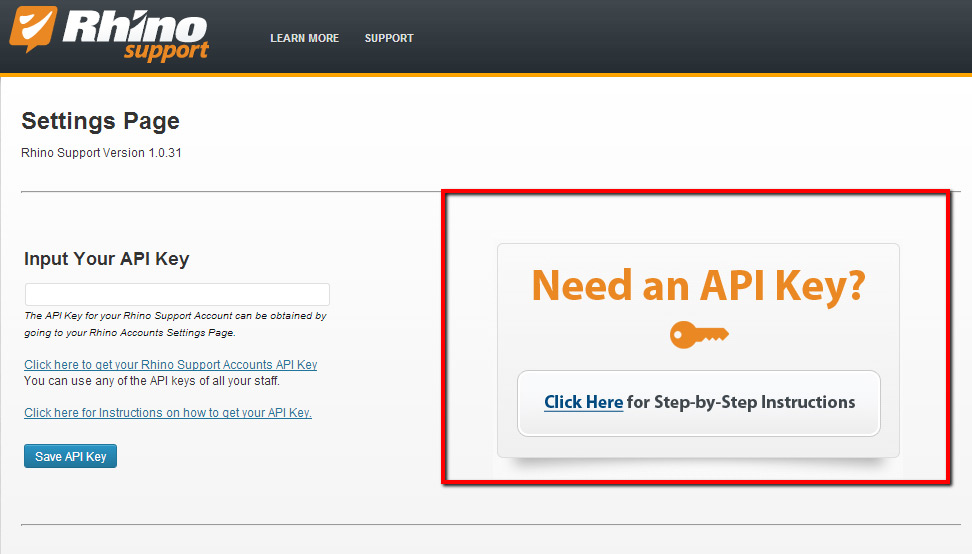 Rhino Support Wordpress Plugin